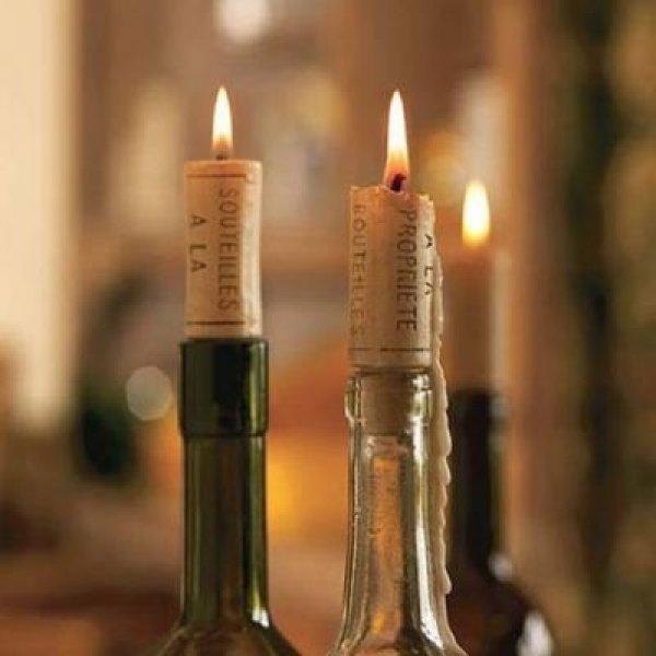 Svíčky - korkové zátky