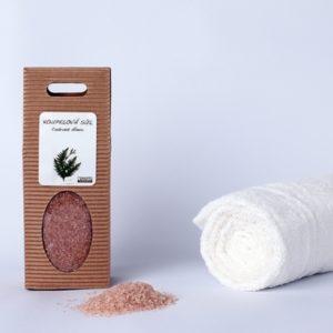 Koupelová sůl: Cedrové dřevo (dárková krabička)