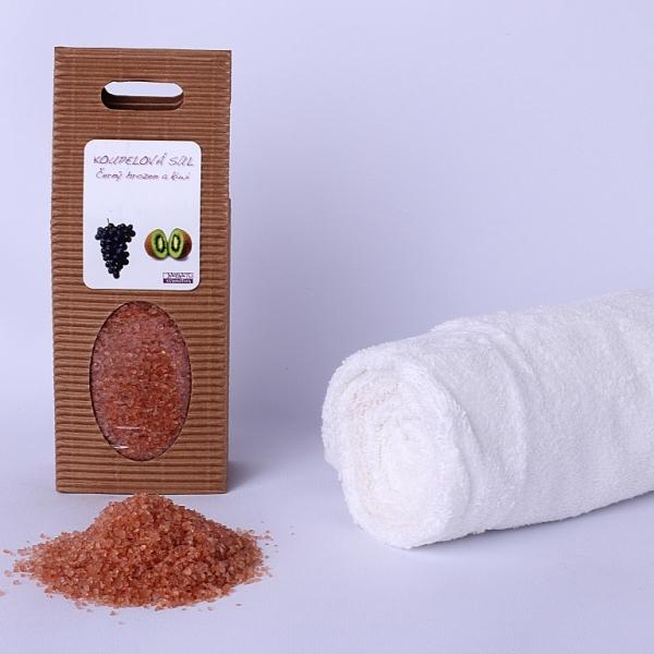 Koupelová sůl: Černý hrozen a kiwi (dárková krabička)