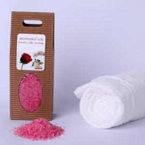 Koupelová sůl: Jasmín-růže-orchidej (dárková krabička)