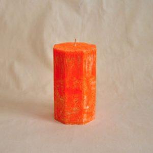 Svíčka - Osmihran - Pomeranč